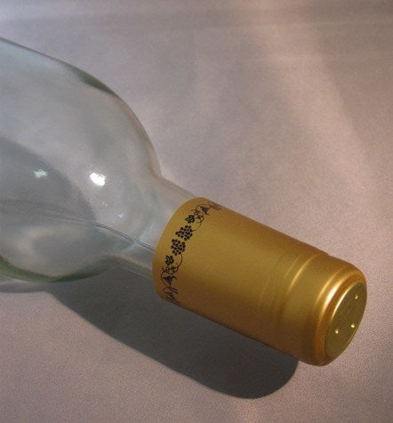 Labels, Shrink Caps, Assorted Bottling - PVC Shrink Caps, Gold W/ Black Grapes, Bag Of 30