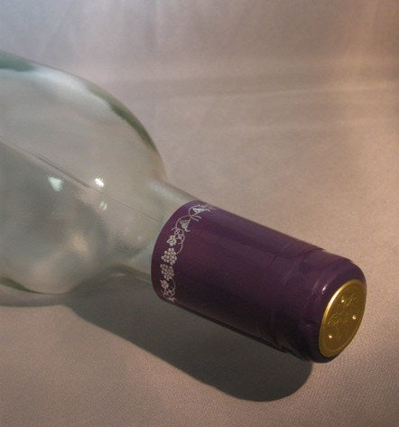 PVC Shrink Caps, Purple with Silver Grapes, Bag of 30