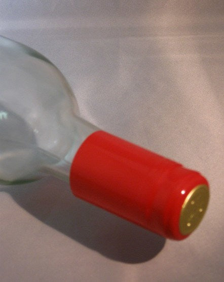 Labels, Shrink Caps, Assorted Bottling - PVC Shrink Caps, Red, Bag Of 30