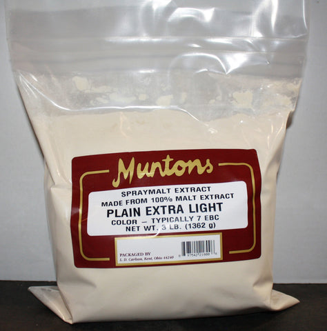 Extra Light Dry Malt Extract (DME) 3 LB (Muntons)