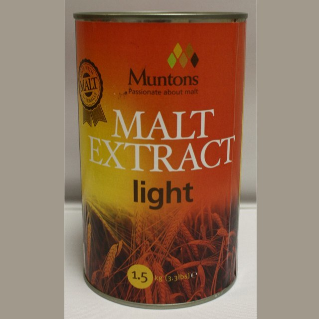 Malt Extract - Light Liquid Malt Extract (LME) 3.3 LB Can (Muntons)