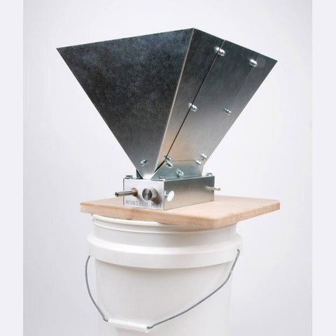 Monster Mill 2-Roller Grain Crusher with Steel Hopper and Base