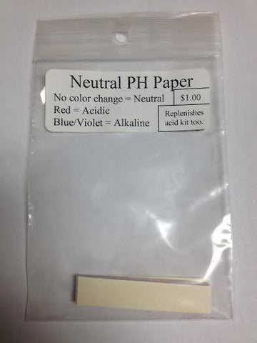 Neutral pH Papers