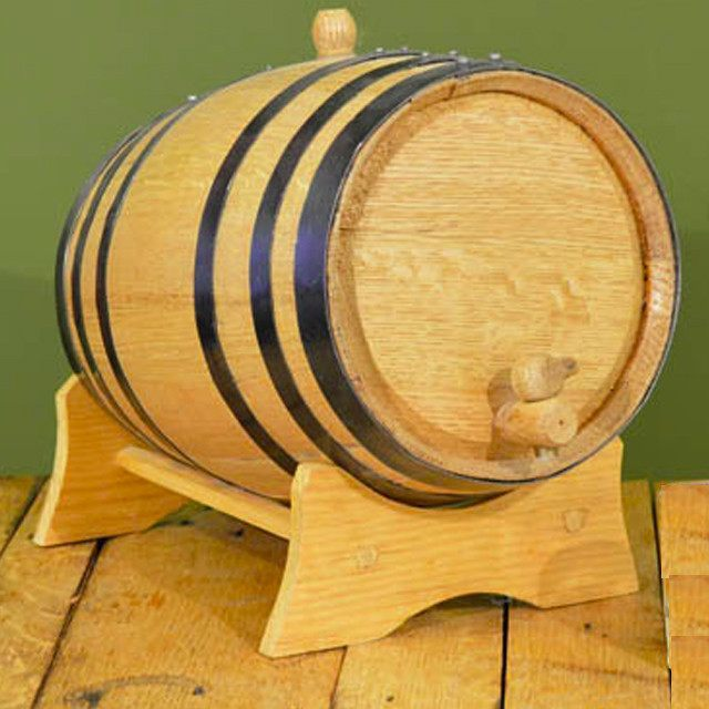Oak - Oak Barrel Light Toast W/ Stand, 10 Gallon