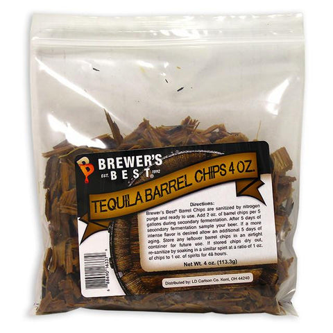 Tequila Barrel Oak Chips 4 oz (Brewers Best)