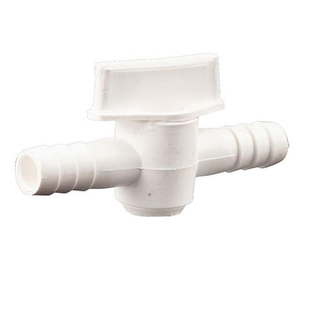 "Siphon Equipment - Inline Plastic Valve W/ 3/8"" Barbs"