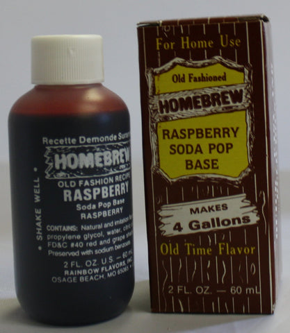 Raspberry Soda Extract 2 oz (Old Fashioned)