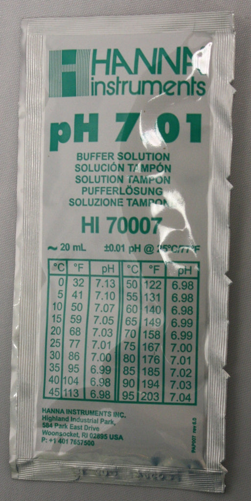 Testing Equipment - PH Meter Buffer Solution For PH 7.01 (20mL Pack)