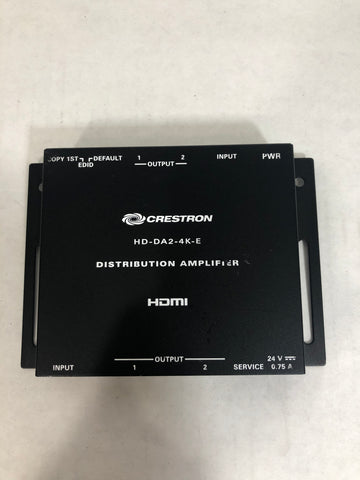 Crestron HD-DA2-4K-E 1-to-2 4K HDMI Distribution Amplifier - Surplus Crestron