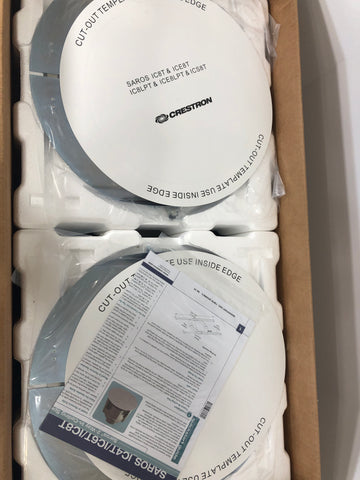 "Crestron Saros IC8T-W-T 8"" 2-Way In-Ceiling Speaker, White Textured, Single NEW Qty 2 speakers. - Surplus Crestron"