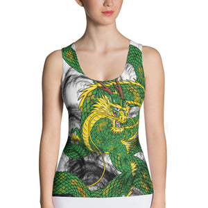Forest Green Imperial Dragon Women's Tank Top