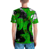 Lime Green Imperial Dragon Men's Crew Neck T-Shirt