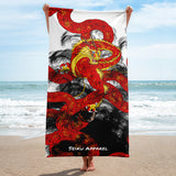 Red Imperial Dragon Towel