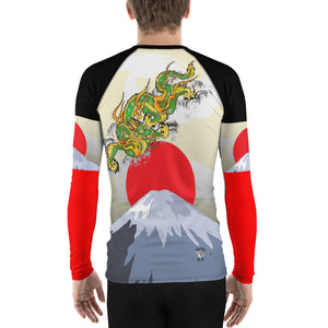 Catching the Sun Dragon Men's Long Sleeve Rash Guard