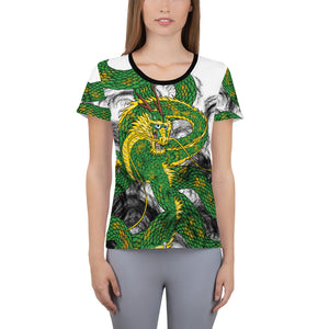 Forest Green Imperial Dragon Women's Athletic T-shirt
