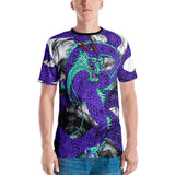 Purple Imperial Dragon Men's Crew Neck T-Shirt