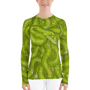 Snake's Lair Women's Long Sleeve Rash Guard Shirt