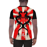 Vintage Rising Sun Dragon Men's Athletic T-shirt