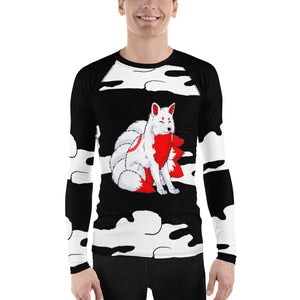 Inari Temple Guardian Men's Long Sleeve Rash Guard