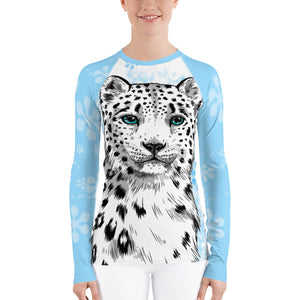 Snow Leopard Women's Long Sleeve Rash Guard