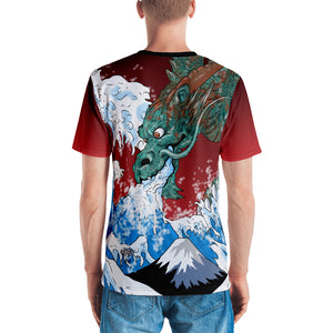 Dragon of the Wave Men's Crew Neck T-Shirt
