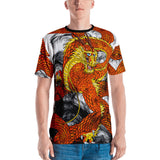 Orange Imperial Dragon Men's Crew Neck T-Shirt
