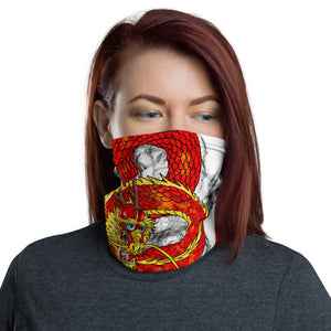 Red Imperial Dragon Face Shield