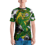 Forest Green Imperial Dragon Men's Crew Neck T-Shirt