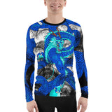 Blue Imperial Dragon Men's Long Sleeve Rash Guard