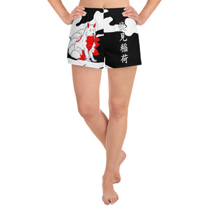 Inari Temple Guardian Women's Athletic Short Shorts