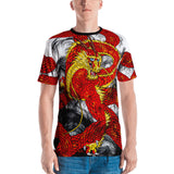 Red Imperial Dragon Men's Crew Neck T-Shirt