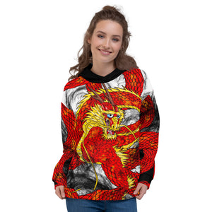 Red Imperial Dragon Unisex Hoodie