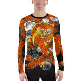 Orange Imperial Dragon Men's Rash Guard