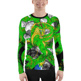 Lime Green Imperial Dragon Men's Long Sleeve Rash Guard