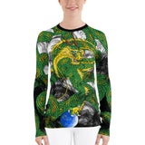 Forest Green Imperial Dragon Women's Long Sleeve Rash Guard