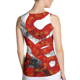 Red Imperial Dragon Women's Tank Top