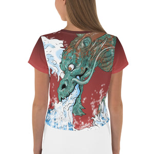 Dragon of the Wave Crop Tee