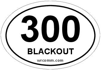300 Blackout Oval Sticker