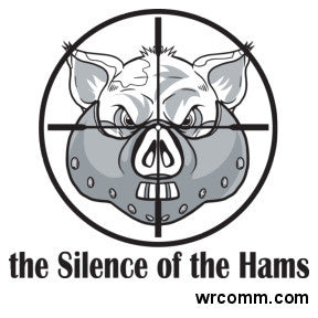 Silence of the Hams Sticker