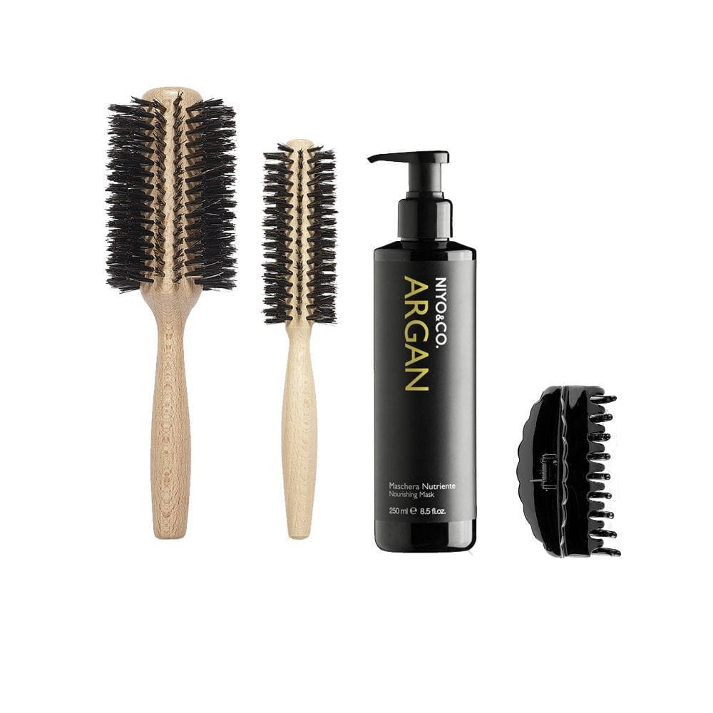 KIT HOME SPA - BRUSHING ARGAN + POCHETTE