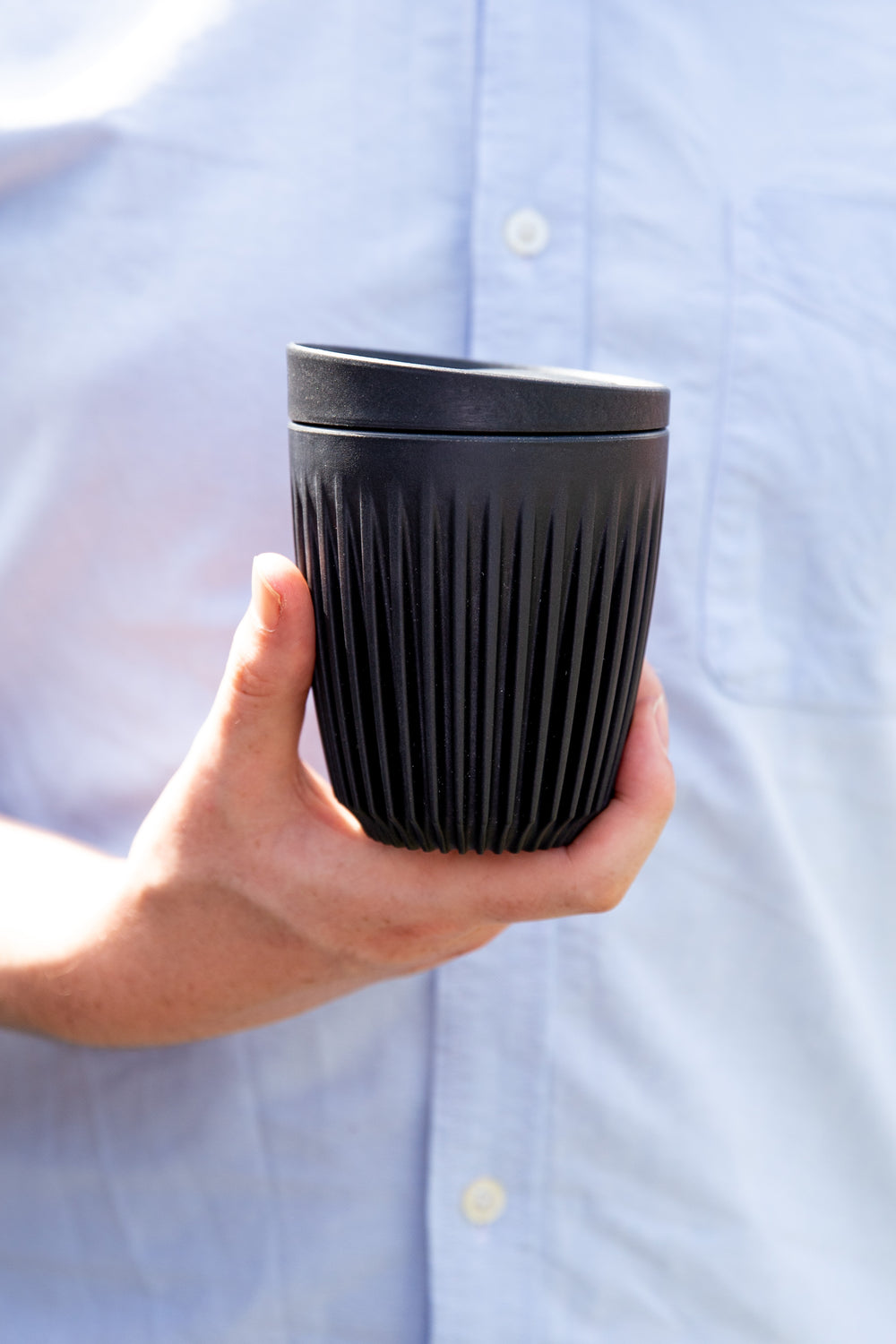 12oz Charcoal Cup & Lid Combo
