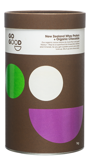 Go Good Organic Chocolate Whey Protein Powder