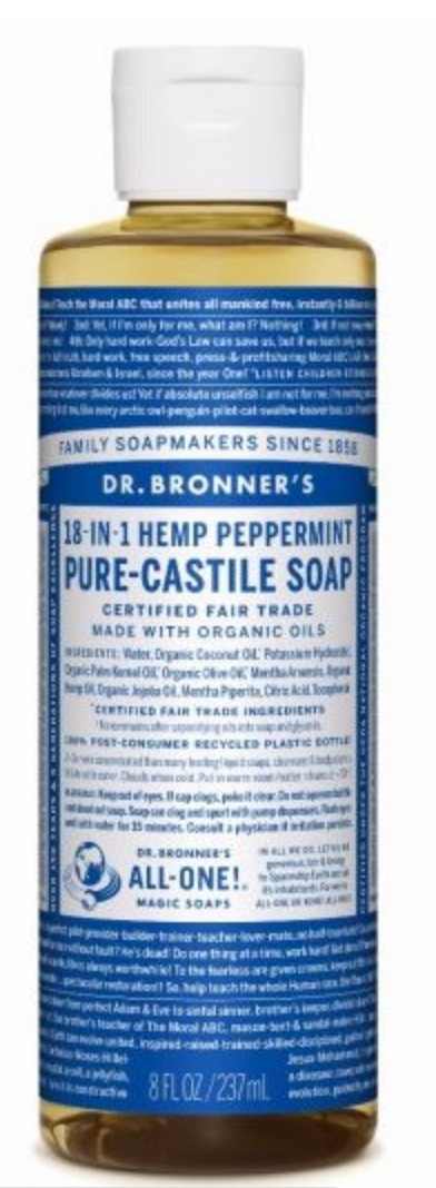 Dr Bronner Peppermint Liquid Soap