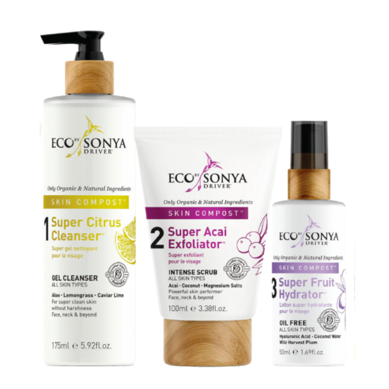 Eco by Sonya Skin Compost® Organic Superpower for your skin (3 step system)
