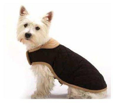 Black Quilted Dog Gone Smart NanoSuede Jacket