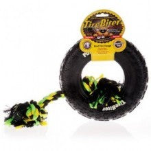 Large TireBiter Dog Toy, Tire with Rope -25cm