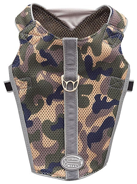 Reflective Vest Mesh Harness Camo for the dogs who love to blend in.