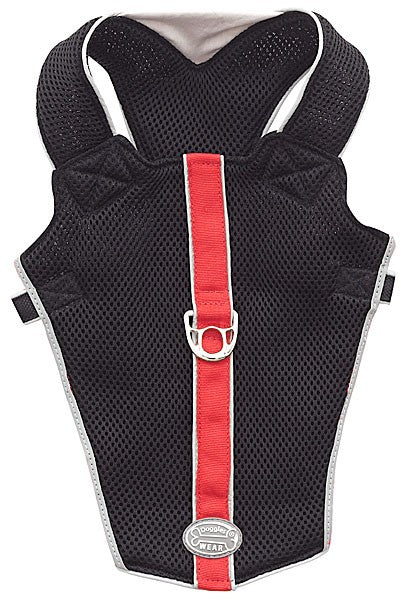 Reflective Vest Mesh Harness Black /Red