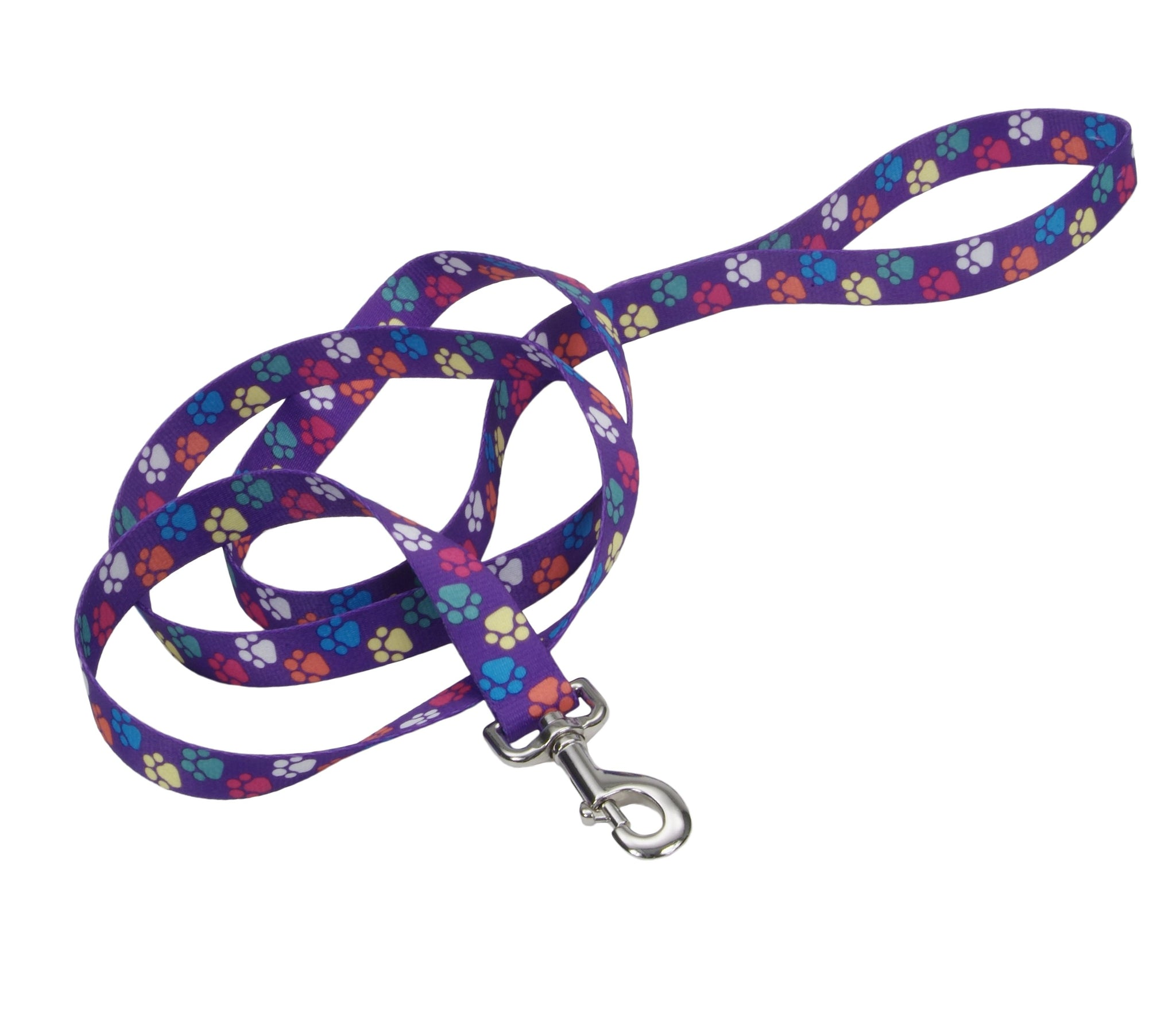 Pet Attire Purple Paws Dog Lead
