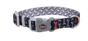 Reversible Sublime Multi Ultra Cool Dog Collar - Metal Gray 20mm,25mm,37mm
